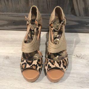 Sam Edelman leopard espadrilles